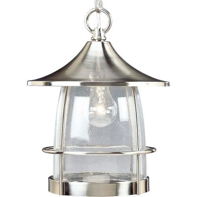 Prairie Collection Brushed Nickel Outdoor Hanging Lantern