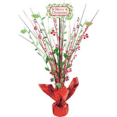 18 in. Christmas Foil Spray Centerpiece (2-Pack)