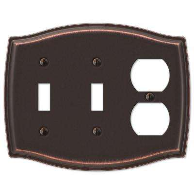 Sonoma 2 Toggle 1 Duplex Combination Wall Plate - Aged Bronze