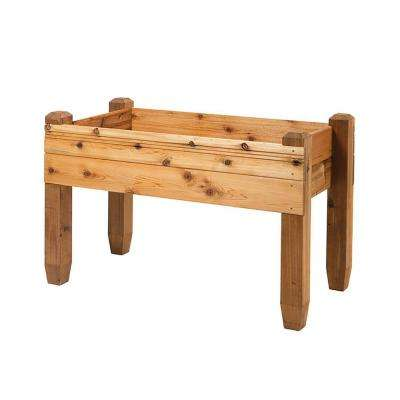23 in. x 47.5 in. x 32 in. Cedar Grande Table Planter