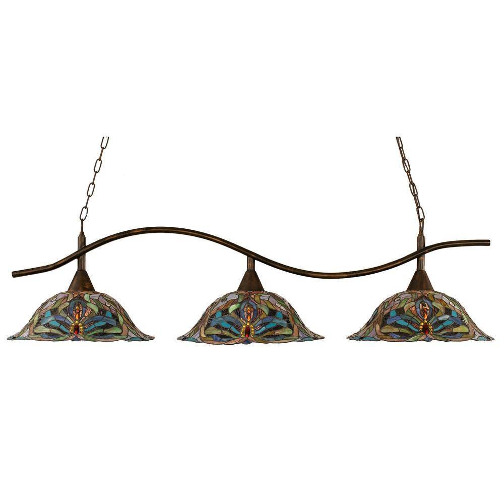 Filament Design Concord 3-Light Bronze Incandescent Ceiling Island Pendant