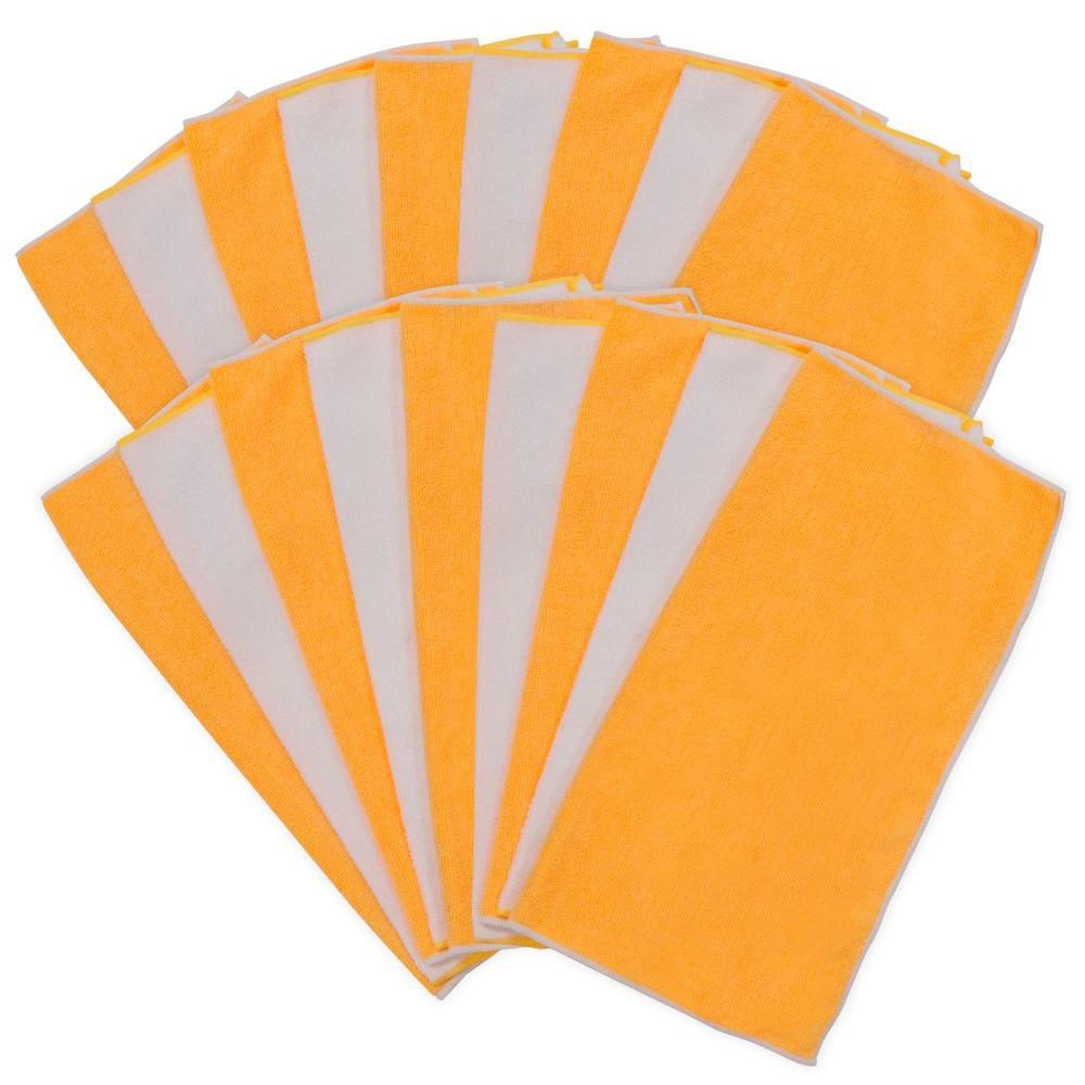 18 in. x 18 in. Multi-Purpose Microfiber Cloth (18-Pack)