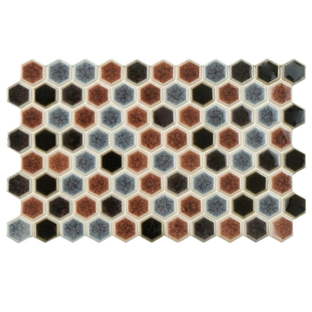 Merola Tile Casella Bruno 5-1/2 in. x 9 in. Porcelain Floor and Wall Tile