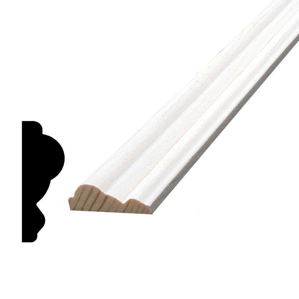 3/8 in. x 1-1/8 in. x 84 in. Primed Pine Finger-Jointed