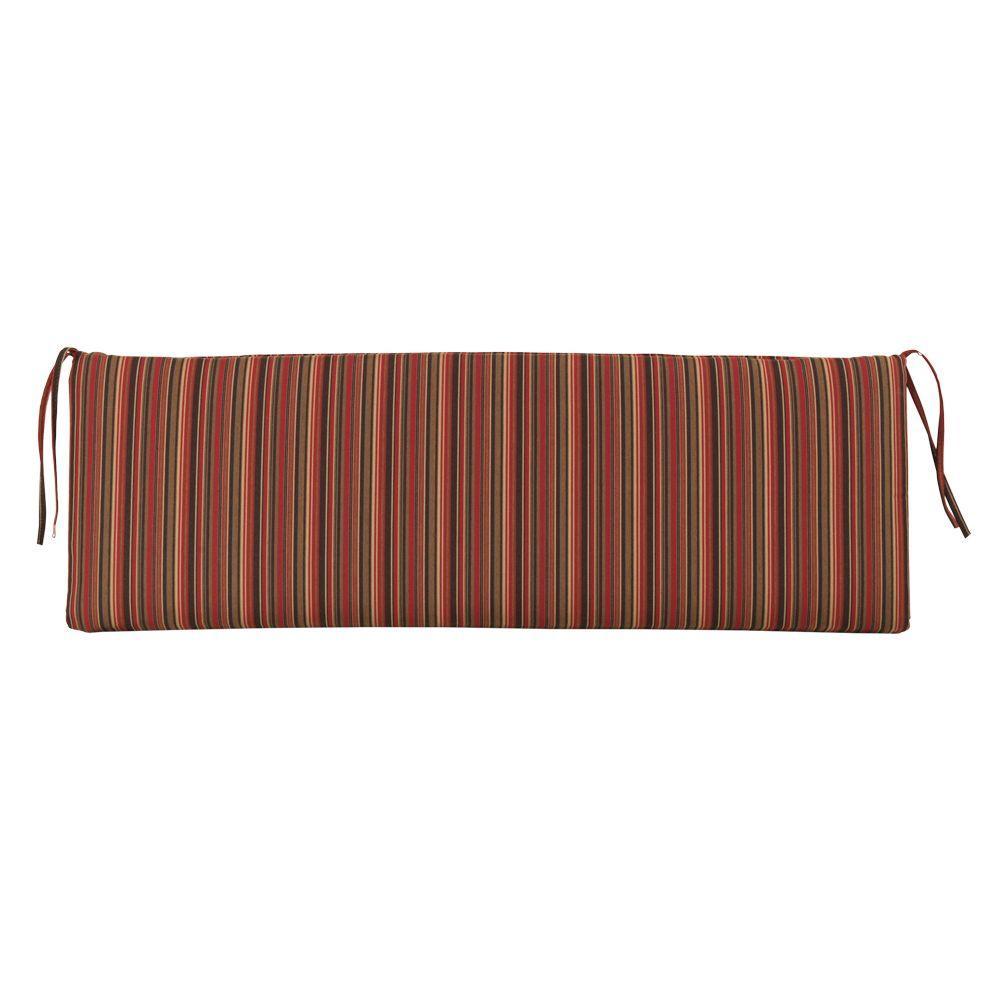 Home Decorators Collection Sunbrella Dorsett Cherry Outdoor Bench Cushion