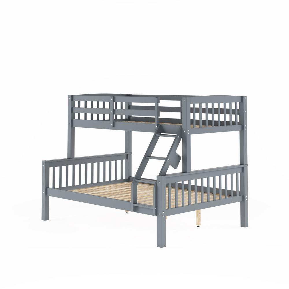 CorLiving Dakota Grey Twin And Single Over Full Double Bunk Bed