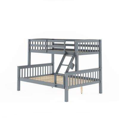 Dakota Grey Twin and Single Over Full and Double Bunk Bed