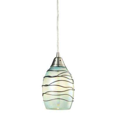 Helice Collection 1 Light Satin Nickel Mini Pendant