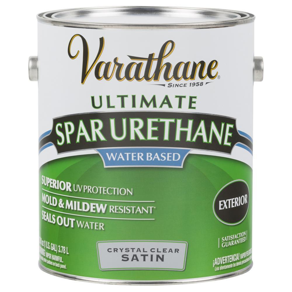 Varathane 1 Gal. Clear Satin Water-Based Exterior Spar Urethane (2-Pack)