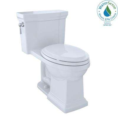 Promenade II 1-piece  1.0 GPF Single Flush Elongated Toilet with CeFiONtect in Cotton White