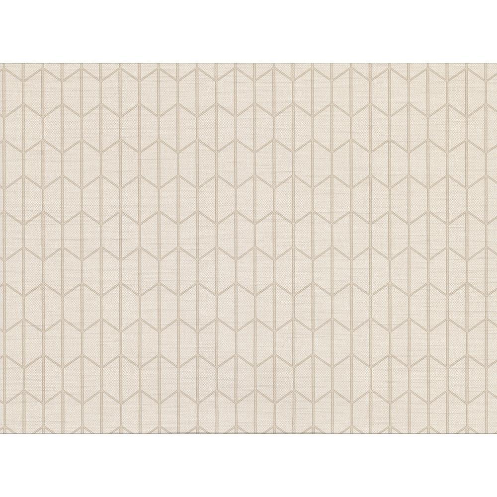8 in. x 10 in. Gauntlet Cream Geometric Sample