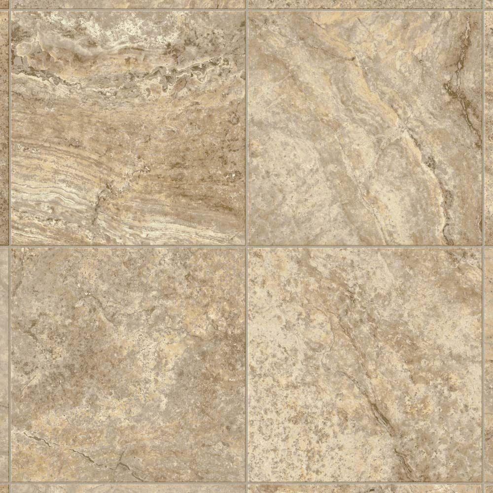 Take Home Sample - Bristol Travertine Manor Creme Vinyl Sheet Flooring