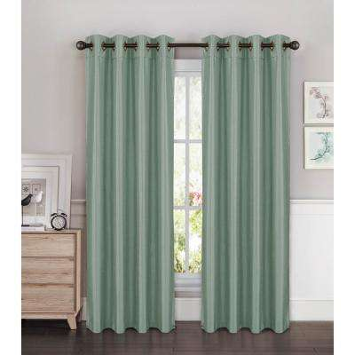 Kim Faux Silk Grommet Extra Wide Curtain ...