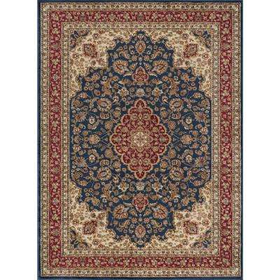 Sensation Navy Blue 7 ft. 10 in. x 10 ft. 6 in. Traditional Area Rug
