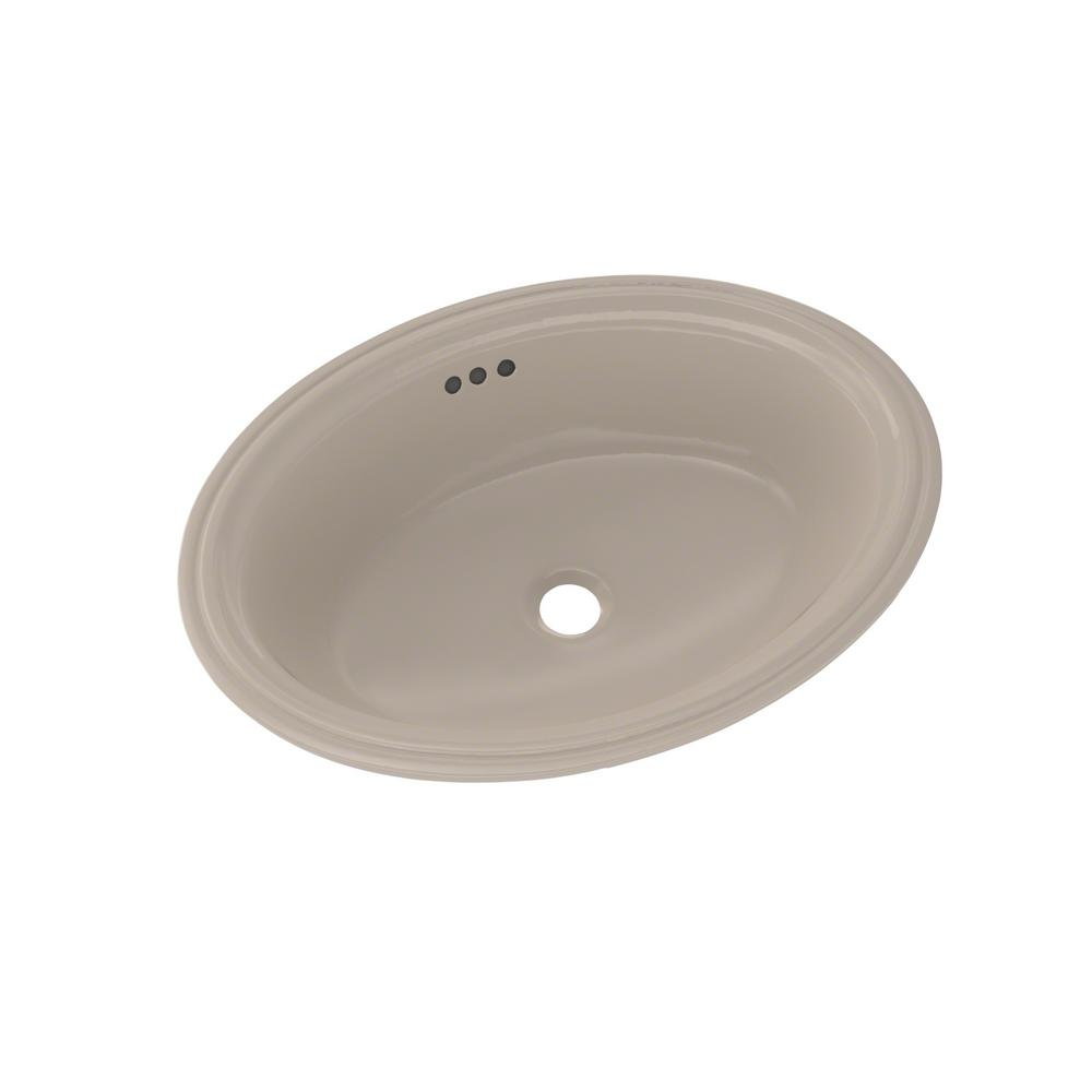Toto Dartmouth 19 In Undermount Bathroom Sink In Bone Lt641 03 The Home Depot