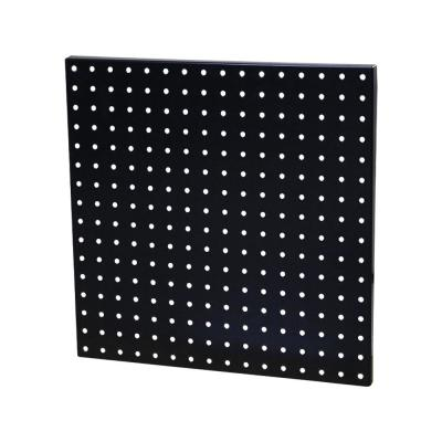 16 in. x 16 in. 60 lb. Heavy-Duty Steel Pegboard in Black (Mounting Hardware Included)