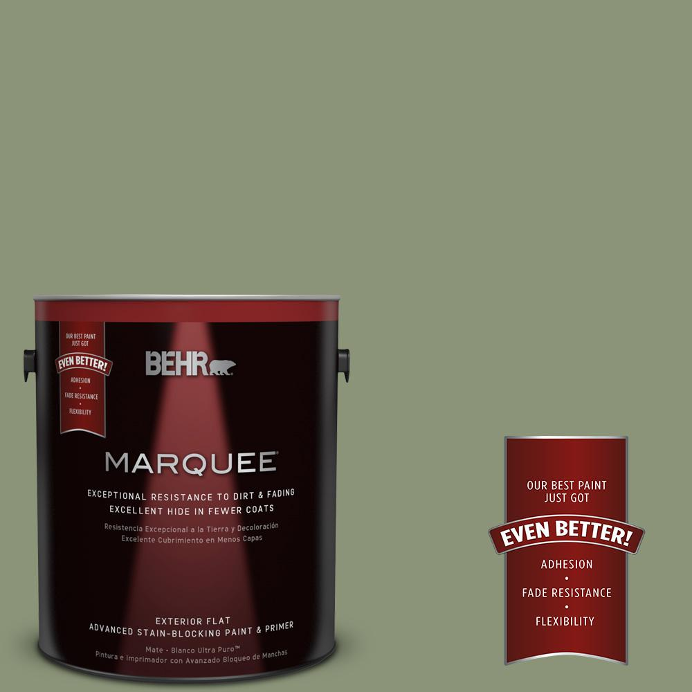 BEHR MARQUEE 1-gal. #420F-5 Olivine Flat Exterior Paint