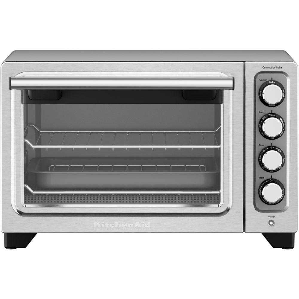 kitchenaid compact contour silver nonstick interior countertop toaster oven kco253cu the home. Black Bedroom Furniture Sets. Home Design Ideas