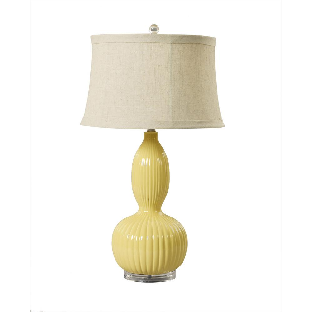 Fangio lighting 29 in straw ribbed gourd ceramic and acrylic table fangio lighting 29 in straw ribbed gourd ceramic and acrylic table lamp aloadofball Image collections
