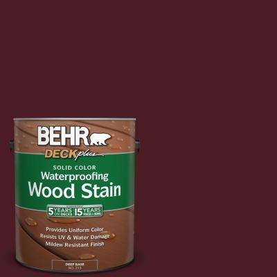 1 gal. #SC-106 Bordeaux Solid Color Waterproofing Exterior Wood Stain