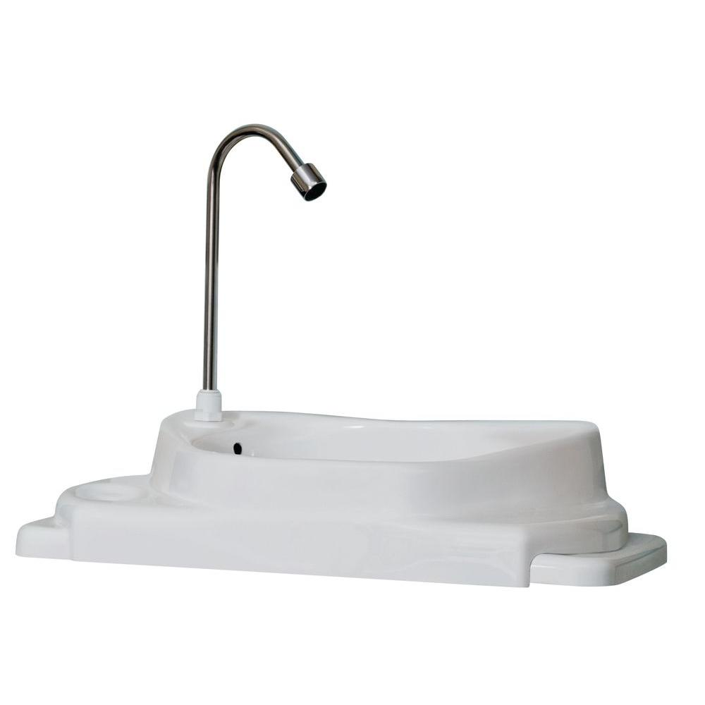 SinkPositive Touch Free Water/Space Saving Adjustable Toilet Tank Retrofit  Sink/Faucet Basin
