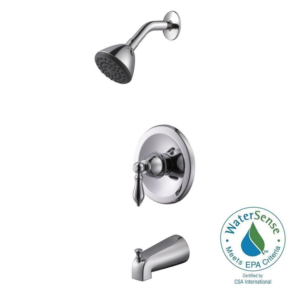 Hathaway Single-Handle 1-Spray Tub and Shower Faucet in Polished Chrome