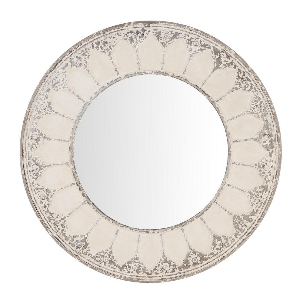 Home Decorators Collection Medium Round Ivory Antiqued Classic Accent Mirror (32 in. Diameter) was $149.0 now $72.47 (51.0% off)