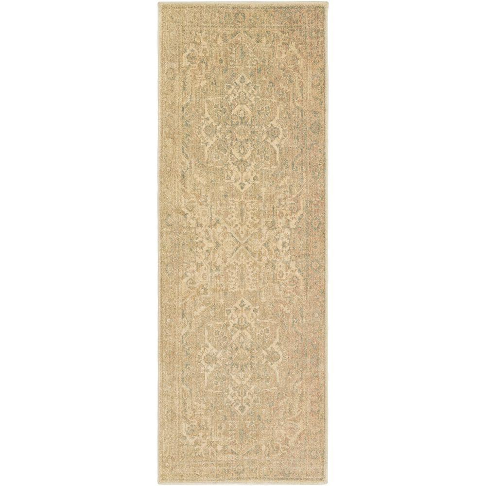 Naredra Beige 2 ft. 7 in. x 7 ft. 3 in.