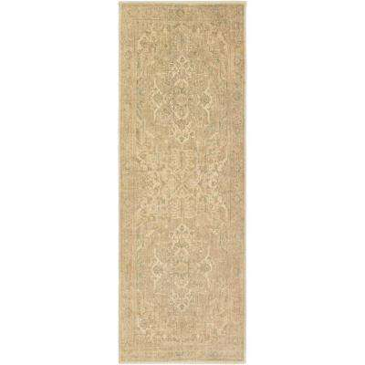 Naredra Beige 3 ft. x 7 ft. Indoor Runner Rug