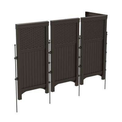 Wicker 44 in. Resin Screen Enclosure