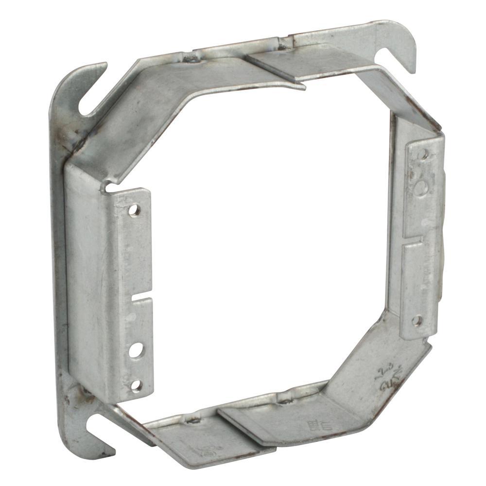 2-Gang Square Metal Mud Ring