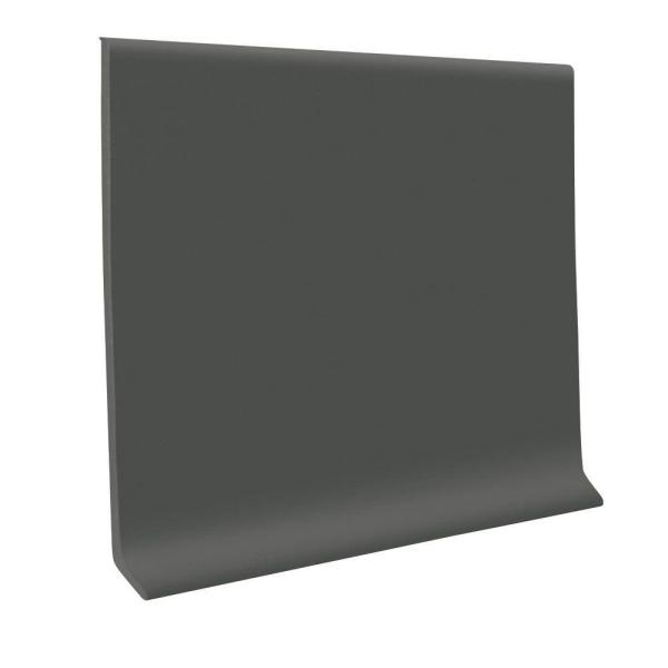 Pinnacle Charcoal 6 in. x 120 ft. x 1/8 in. Rubber Wall Cove Base Coil