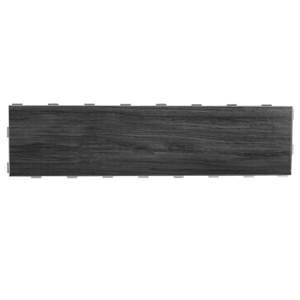 SnapStone Shadow 6 in. x 24 in. Porcelain Floor Tile (5 sq. ft ...