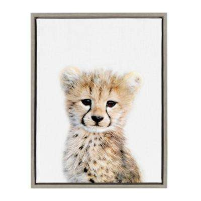 "Sylvie ""Animal Studio Cheetah"" by Amy Peterson Framed Canvas Wall Art"