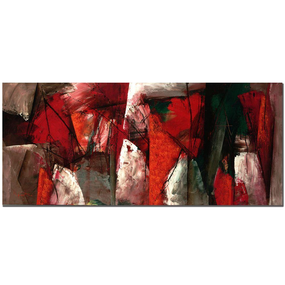 14 in. x 32 in. Abstract X Canvas Art