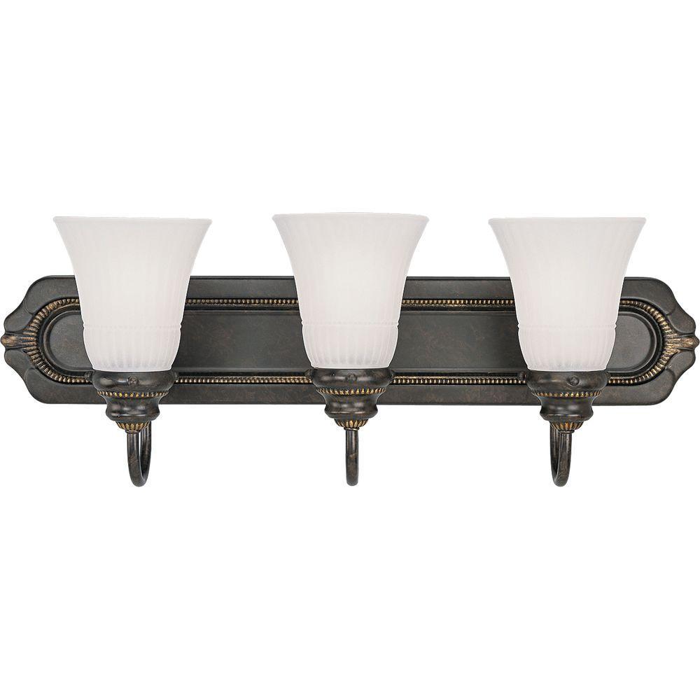 Progress Lighting Huntington Collection Forged Bronze 3-light Vanity Fixture-DISCONTINUED