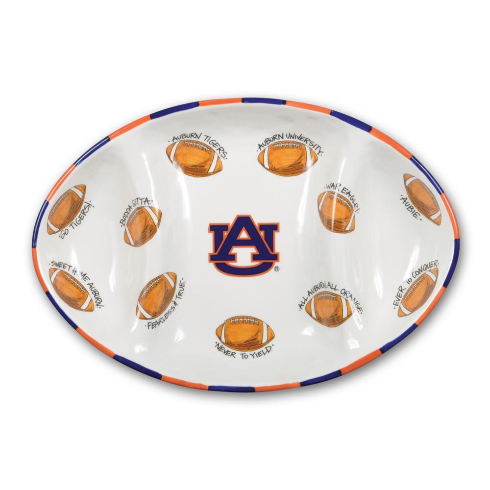 Auburn Ceramic Football Tailgating Platter