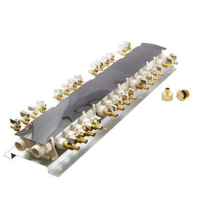 28-Port PEX Manifold with 1/2 in. Brass Ball Valves