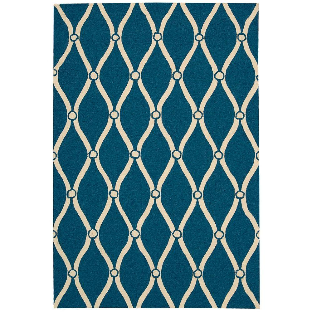 Portico Navy 10 ft. x 13 ft. Indoor/Outdoor Area Rug