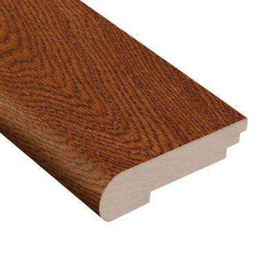 Gunstock Oak 3/8 in. Thick x 3-1/2 in. Wide x 78 in. Length Hardwood Stair Nose Molding