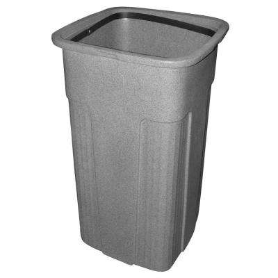 Slimline 25 Gal. Graystone Square Trash Can