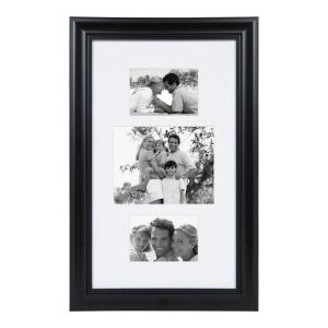 Dalat 14 in. x 24 in. Matted to (1) 8 in. x 10 and (2) 5 in. x 7 in. Black Picture Frame