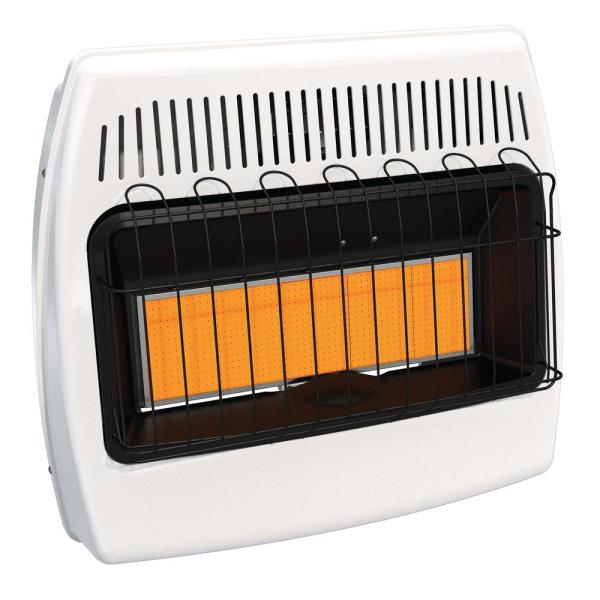 Thermostatic 30,000 BTU Infrared Vent Free Dual Fuel Wall Heater