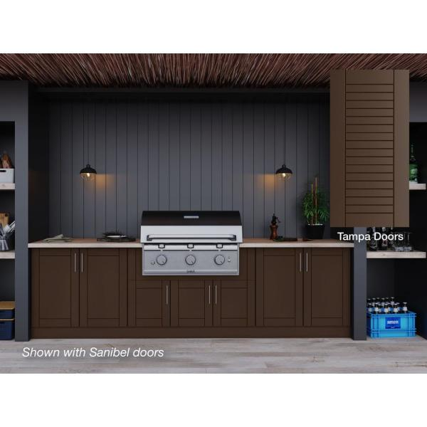 Weatherstrong Tampa Dock Brown 17 Piece 121 25 In X 34 5 In X 28 In Outdoor Kitchen Cabinet Set Wse120wm Tdb The Home Depot