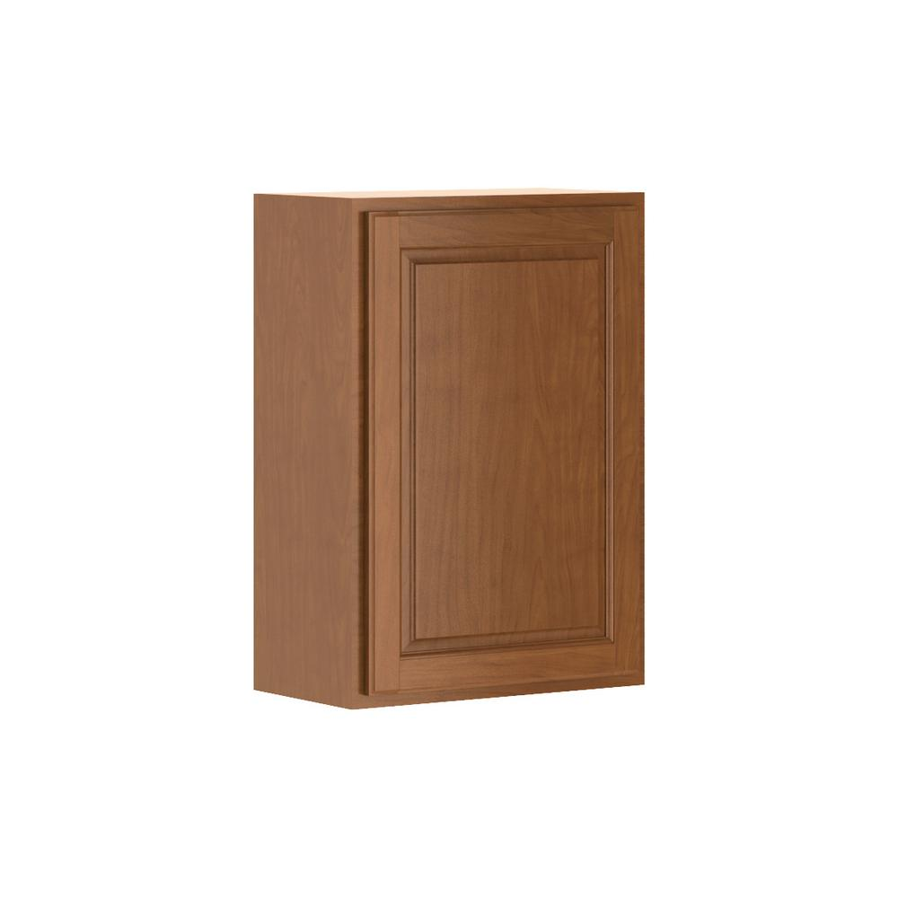 Madison Assembled 21x30x12 in. Wall Cabinet in Cognac