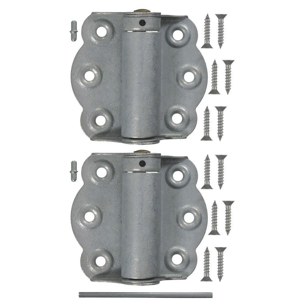 2-3/4 in. Galvanized Adjustable Self-Closing Hinge (1-Pair)