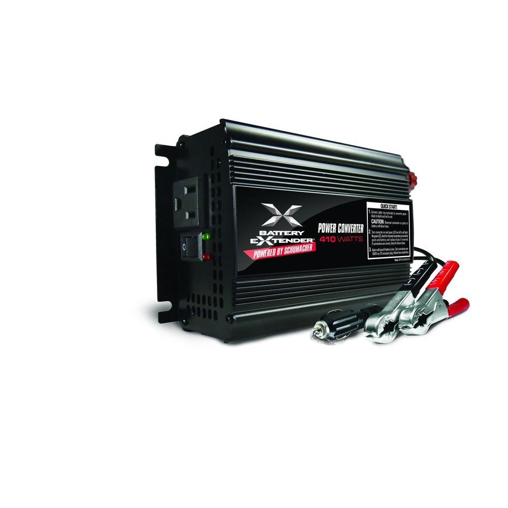 Car Power Inverters Battery Charging Systems The Home Depot 12vdc To 9vdc Converter Ac Dc 12v 45v 9 Volt Extender 12 410 Watt