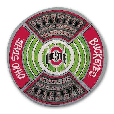 Ohio State Football Stadium Melamine Platter