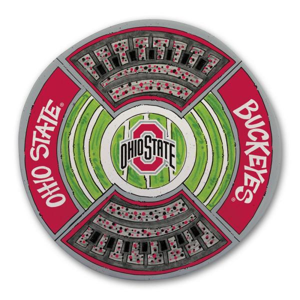 Magnolia Lane Ohio State Football Stadium Melamine Platter 22151
