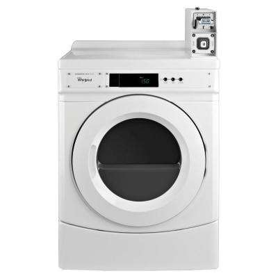 6.7 cu. ft. Commercial Electric Dryer in White